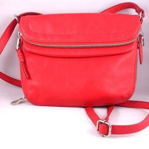 Adorable Relic by Fossil Crossbody Bag in Red